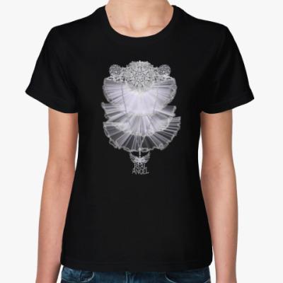 Женская футболка настоящий ангел!