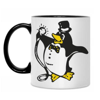 Кружка Пингвин в караоке