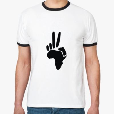 Футболка Ringer-T Peace (Африка)