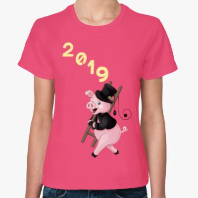Женская футболка Piggy Year 2019