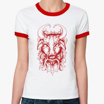 Женская футболка Ringer-T BULL