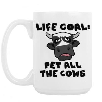 Кружка LIFE GOAL: PET ALL THE COWS