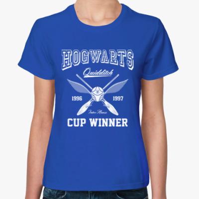 Женская футболка Hogwarts Quidditch Cup Winner