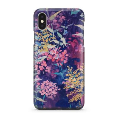 Чехол для iPhone X цветы