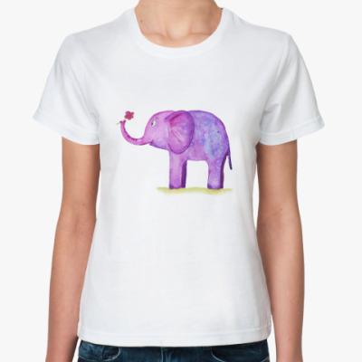 Классическая футболка слон