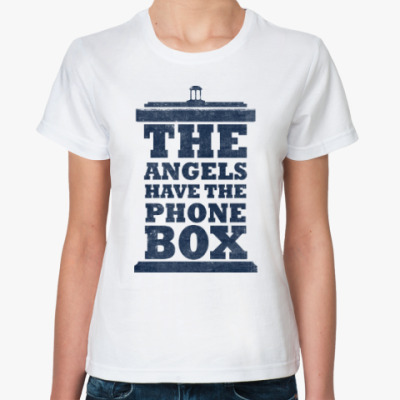 Классическая футболка The Angels Have The Phone Box