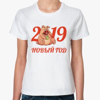 Классическая футболка Новый Год 2019
