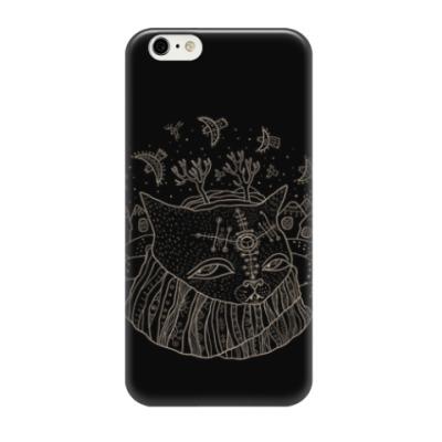 Чехол для iPhone 6 Кот Савелий и птицы