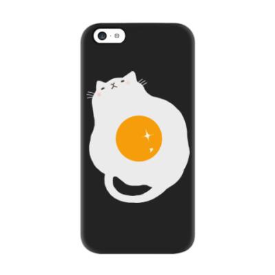 Чехол для iPhone 5c Кот-яичница