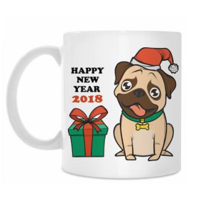 Кружка Год собаки 2018 по восточному календарю