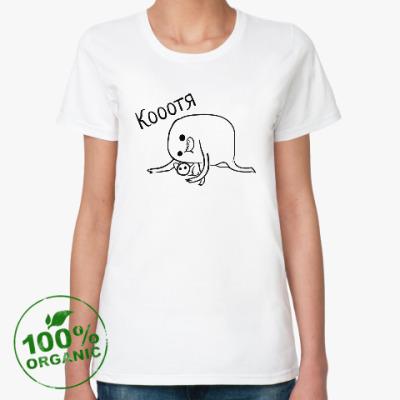 Женская футболка из органик-хлопка Кооотя
