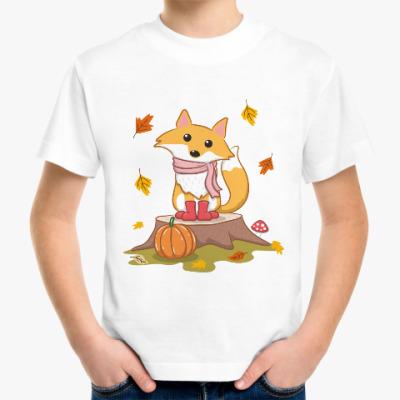Детская футболка Autumn fox