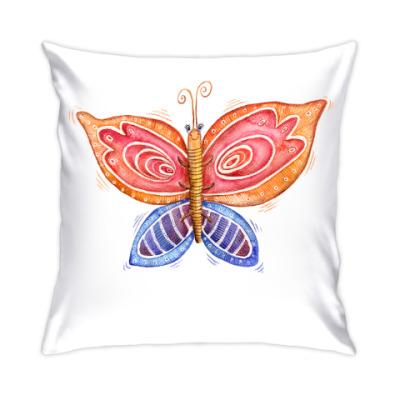 Подушка Акварельная бабочка
