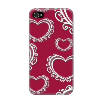 Чехол для iPhone 4/4s Сердца