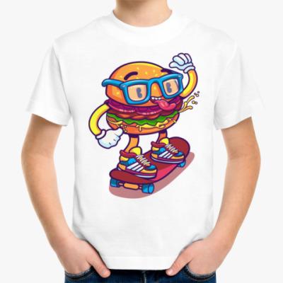 Детская футболка Бургер Скейтер