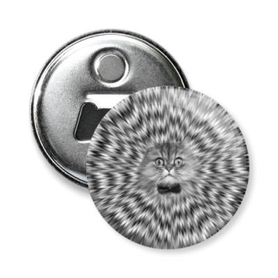 Магнит-открывашка Психоделический кот