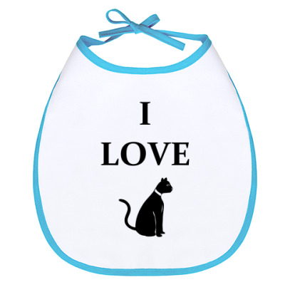 Слюнявчик I love cat