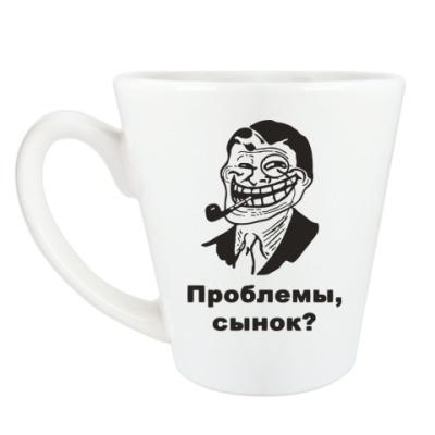 Чашка Латте troll dad