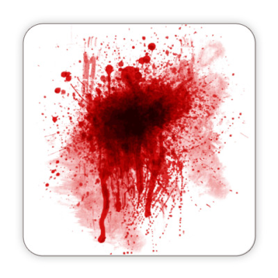 Костер (подставка под кружку) Брызги крови