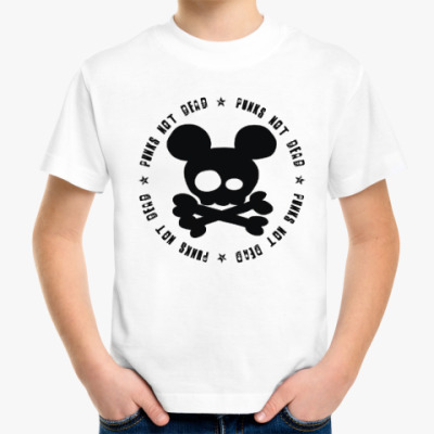Детская футболка Mickey, punks not dead!