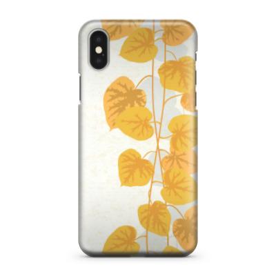 Чехол для iPhone X Лианы с пятнистыми листьями