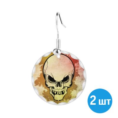 Серьги The skull