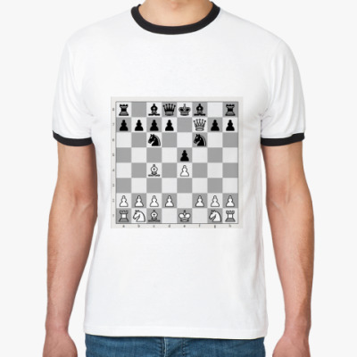 Футболка Ringer-T Детский мат. Шахматы
