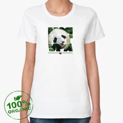 Женская футболка из органик-хлопка WWF. Моя натура - Панда!