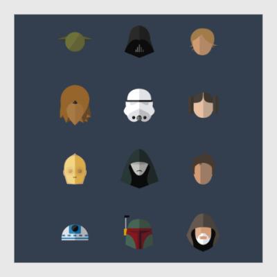 Постер Персонажи Звездных Войн