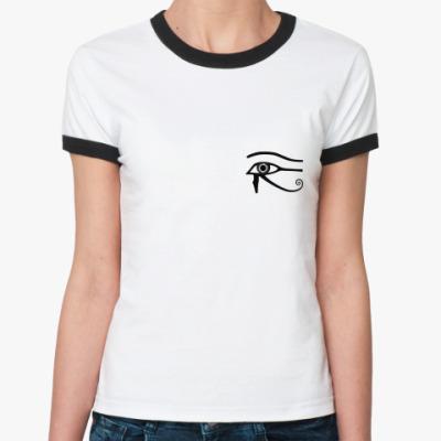 Женская футболка Ringer-T  Особый Уаджет