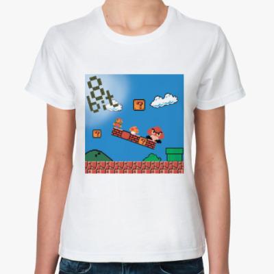 Классическая футболка mario 8 bit
