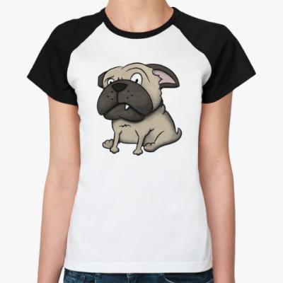 Женская футболка реглан Собака