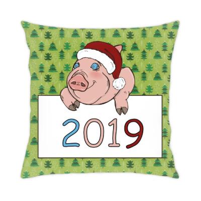 Подушка Свинка 2019
