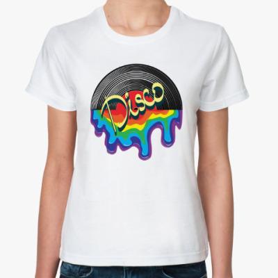 Классическая футболка Музыка в стиле ДИСКО