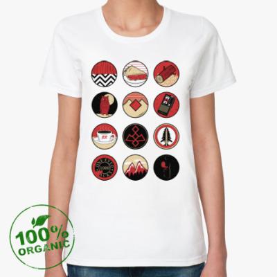 Женская футболка из органик-хлопка Сериал Твин Пикс Twin Peaks