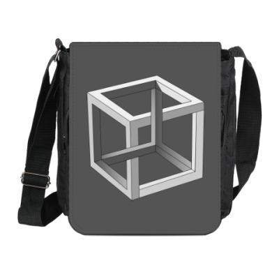 Сумка на плечо (мини-планшет) Невозможный Куб 3D