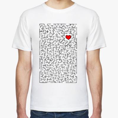 Футболка  Heart in labyrinth