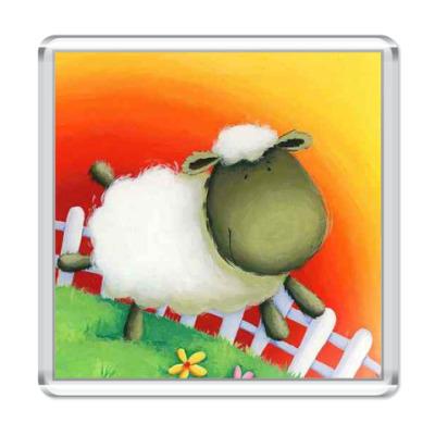 Магнит Весёлая овечка