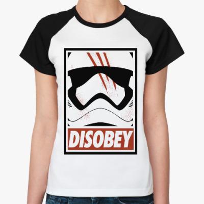 Женская футболка реглан Star Wars: Disobey