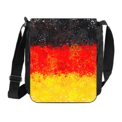 Сумка на плечо (мини-планшет) Флаг Германии