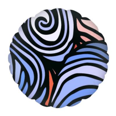 Подушка Морская волна