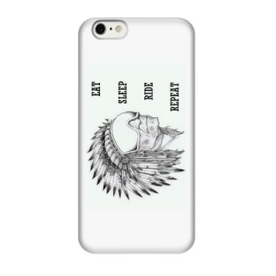 Чехол для iPhone 6/6s Индеец-сноубордист