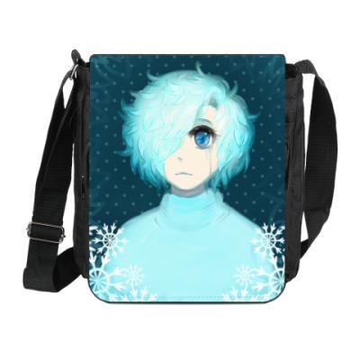 Сумка на плечо (мини-планшет) Арт Девочка зима