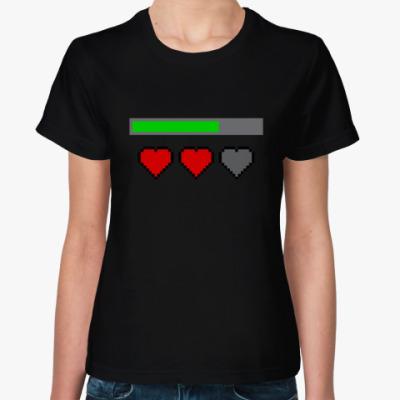 Женская футболка Восьмибитное сердце / Симс