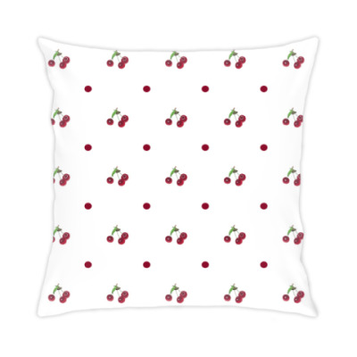 Подушка вишневый узор