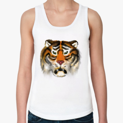 Женская майка Огненный тигр