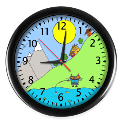 """Настенные часы """"Рыбалка"""""""