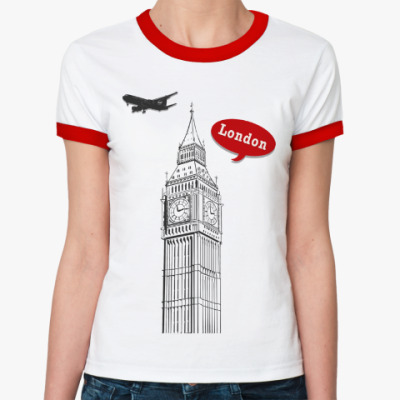 Женская футболка Ringer-T London, Лондон