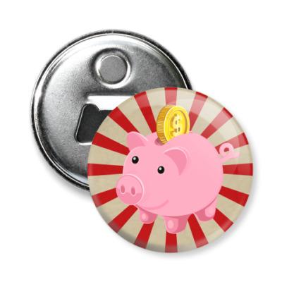 Магнит-открывашка Piggy Bank