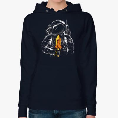 Женская толстовка худи Космонавт с леденцом